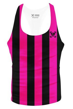 pink stripes stringer vest