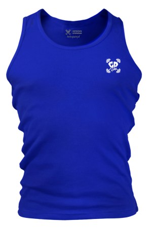 Get Down Logo Fitted Tank Vest Royal