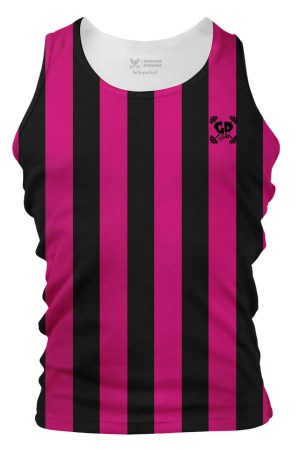 Pink Retro Stripes Tank