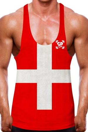 Swiss Flag Stringer Vest