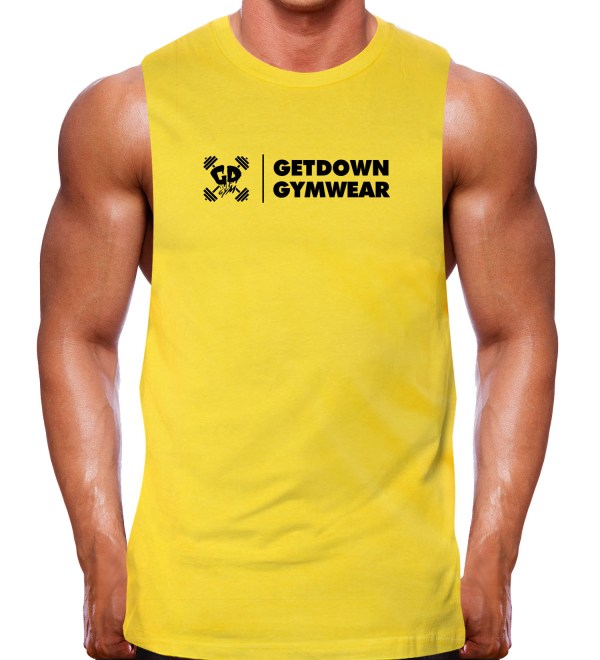 muscle tank rugged gold