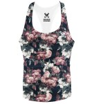 Deep Floral Stringer Vest
