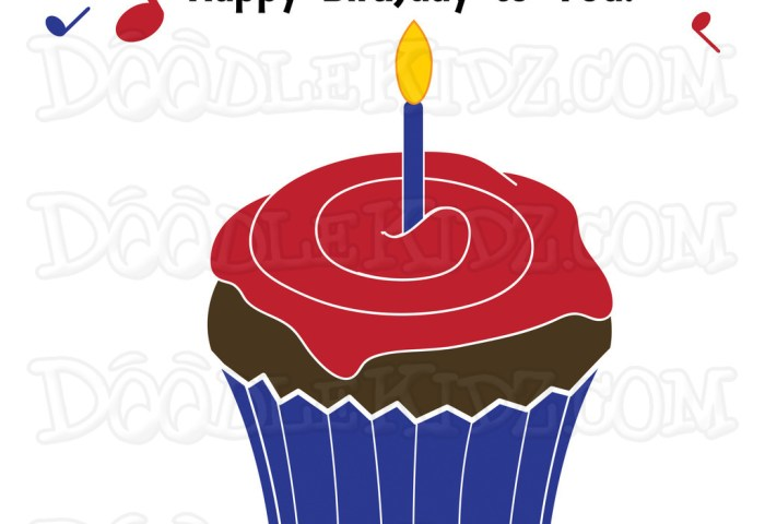 Birthday Cupcake Clipart At Getdrawingscom Free For Personal Use
