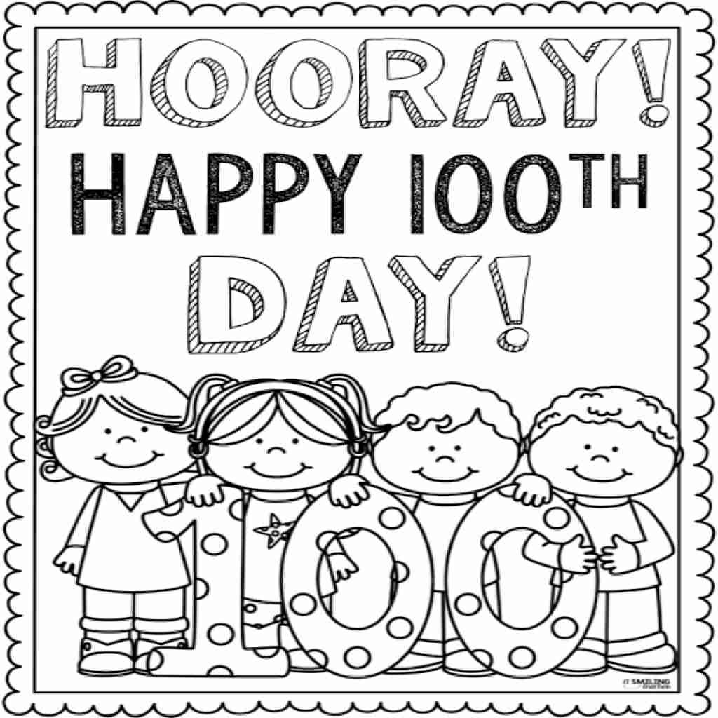 100th Day Of School Coloring Pages Free At Getdrawings