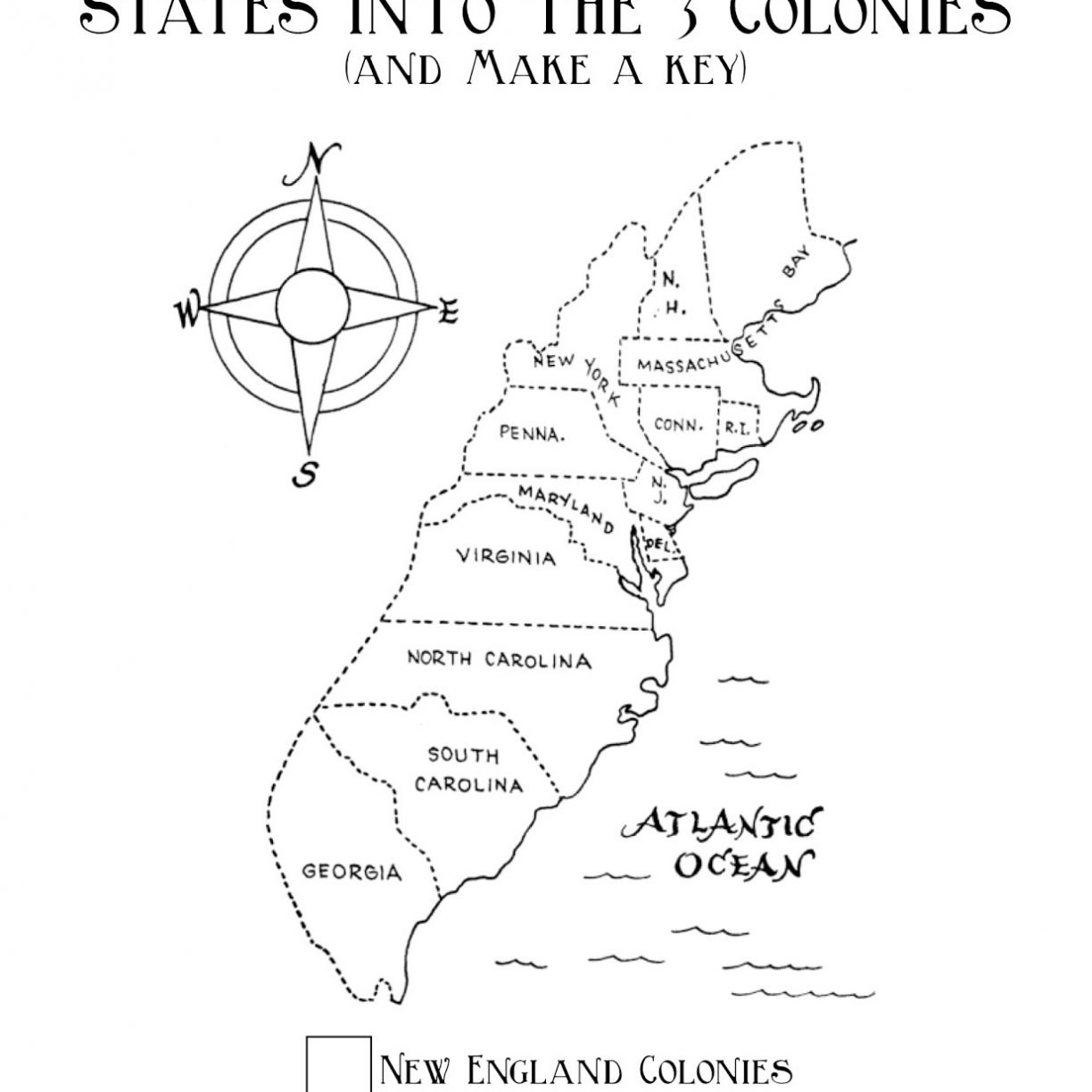 13 Colonies Coloring Page At Getdrawings