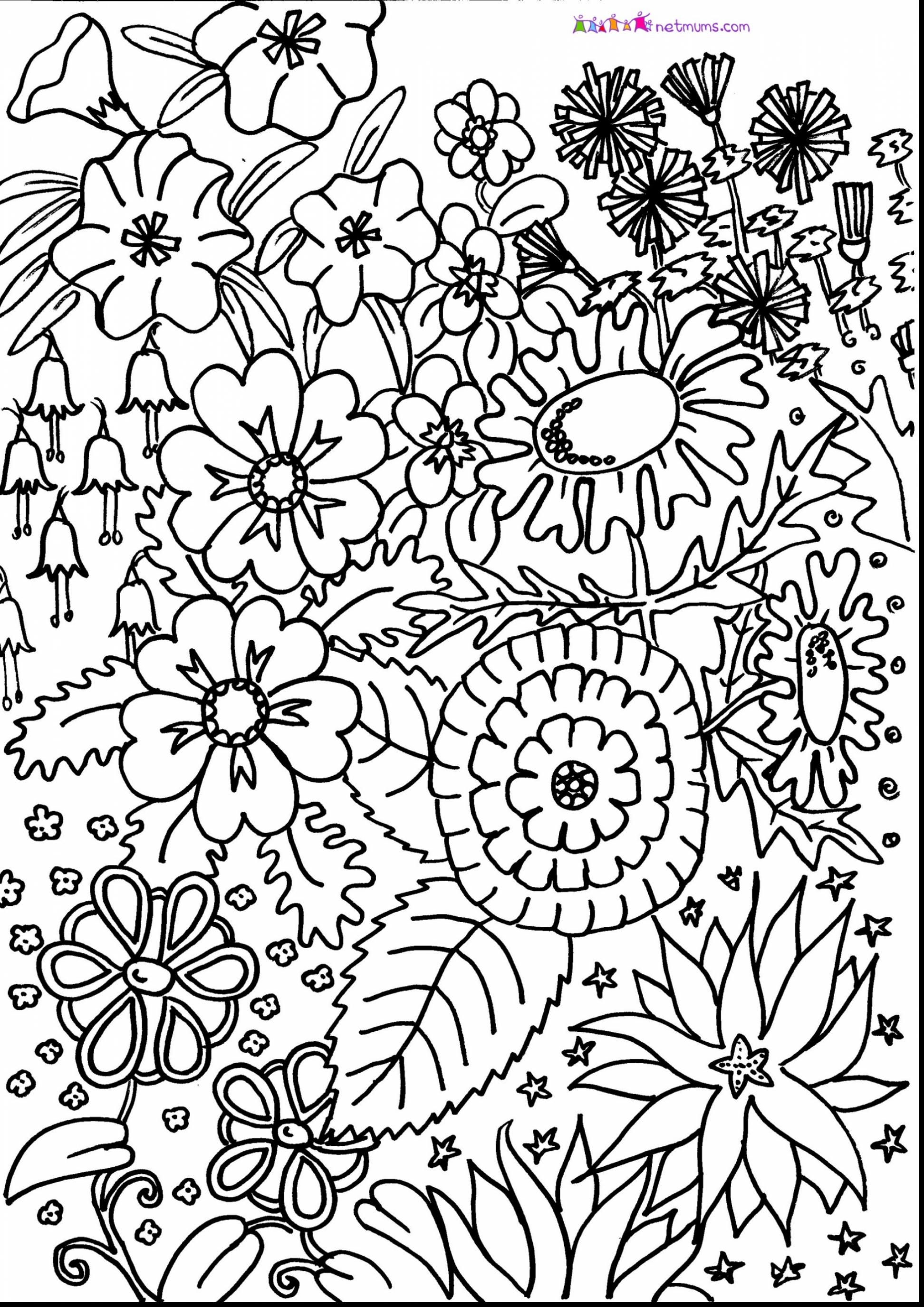 Adult Coloring Pages Patterns Flowers At Getdrawings