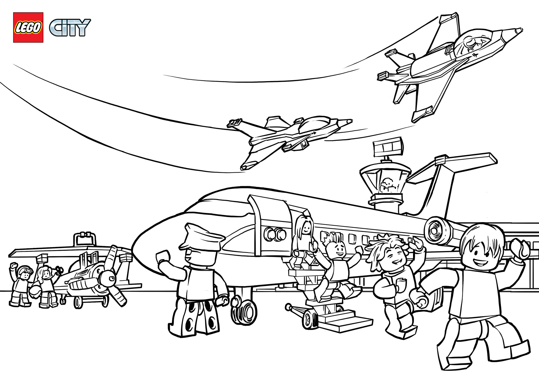 The Best Free Airport Coloring Page Images Download From