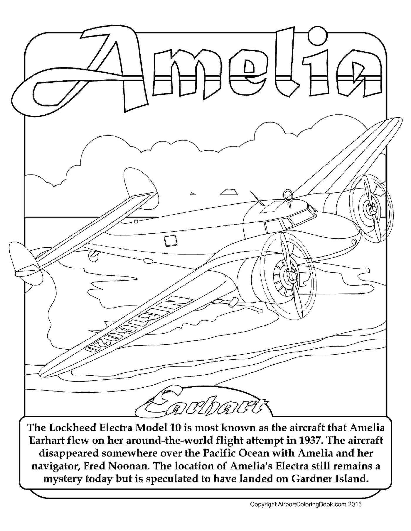 Amelia Earhart Drawing At Getdrawings