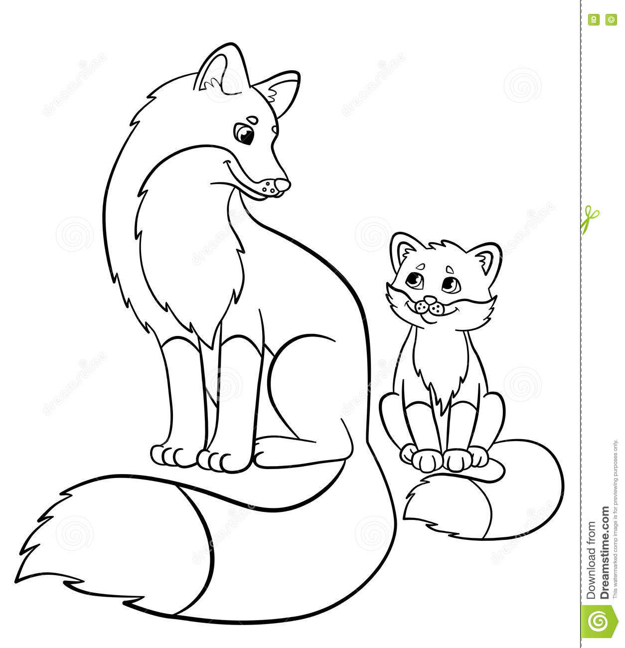 Animals And Their Babies Coloring Pages At Getdrawings