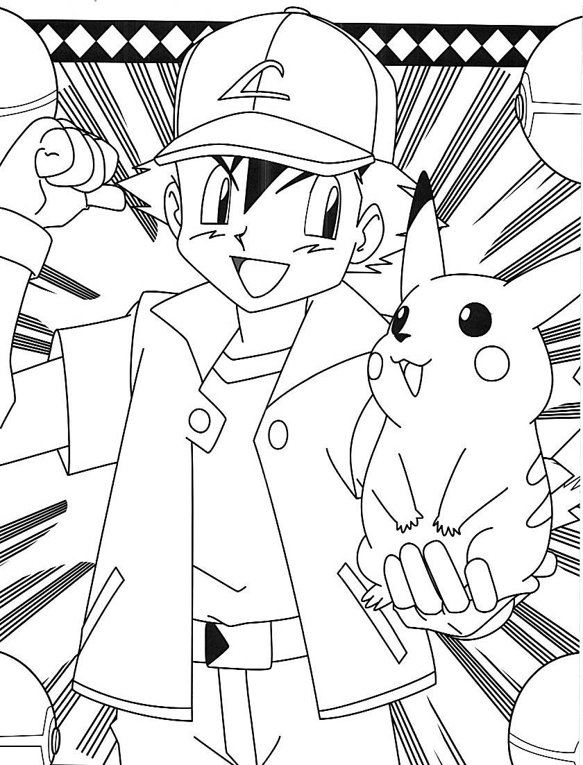ash pokemon coloring pages at getdrawings  free download