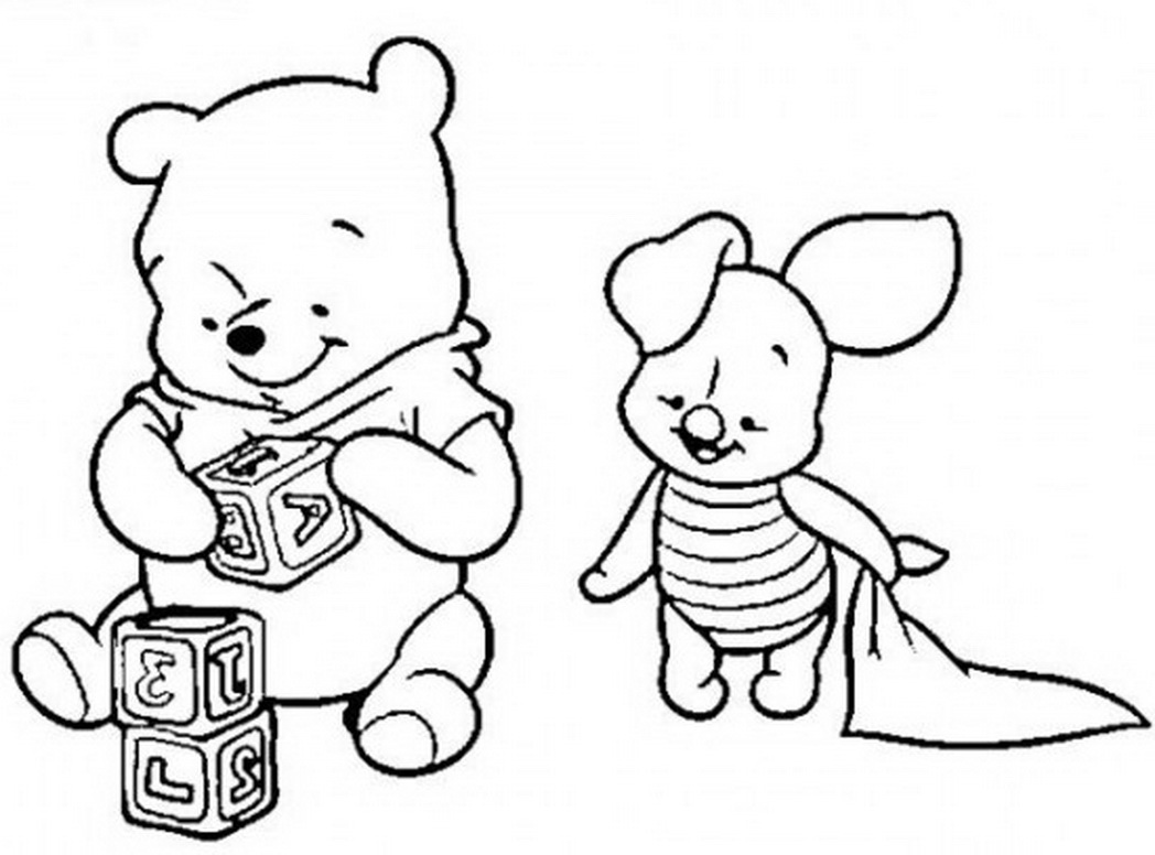 Baby Pooh Coloring Pages At Getdrawings