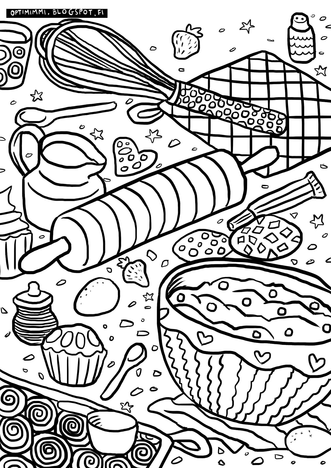 Baking Coloring Pages At Getdrawings