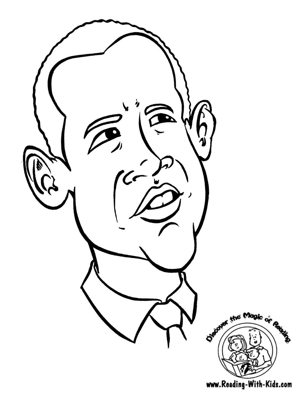Barack Obama Coloring Pages Printable At Getdrawings