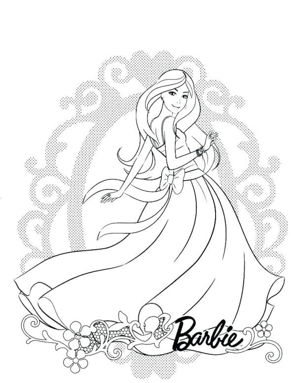 barbie coloring pages # 70