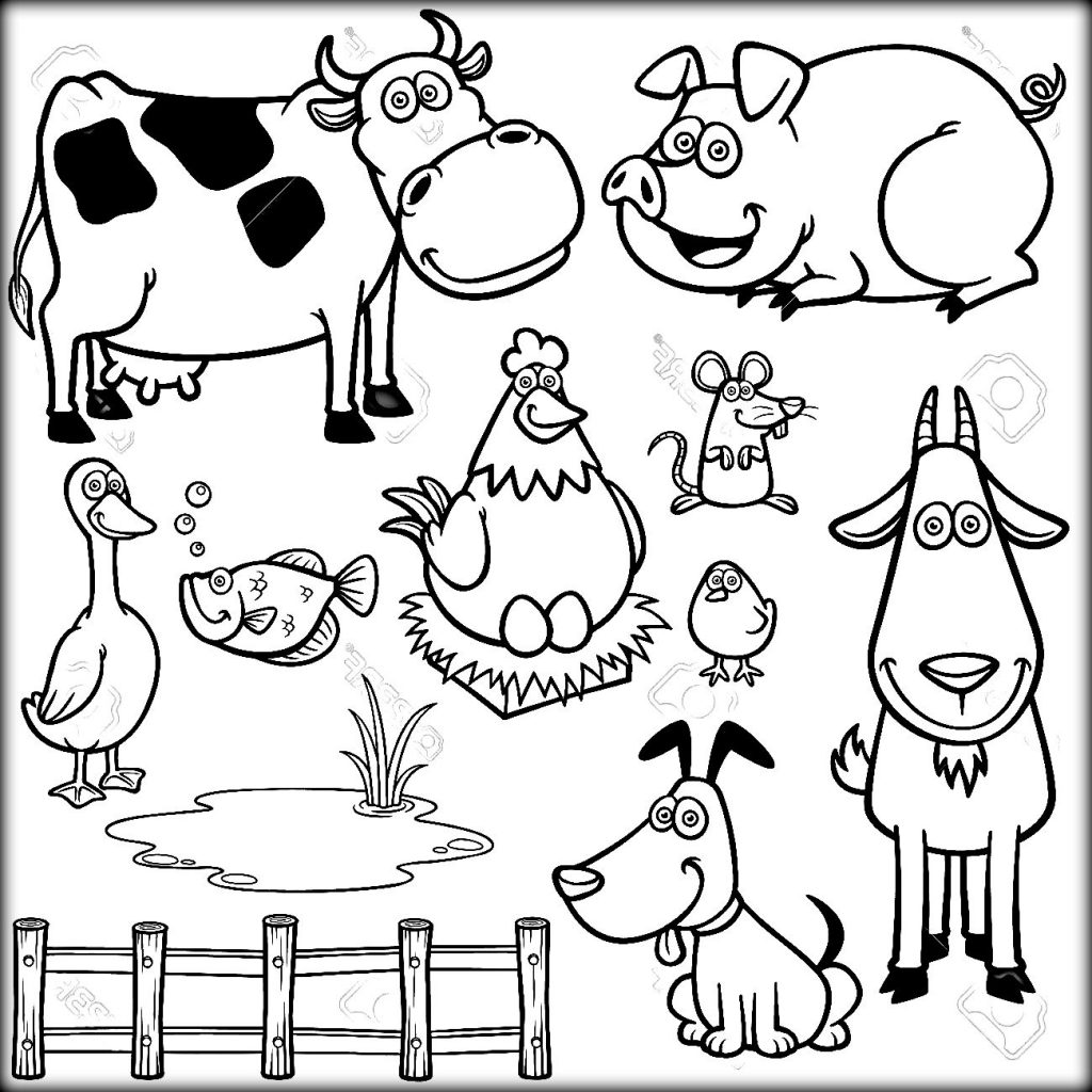 Barnyard Animals Coloring Pages At Getdrawings