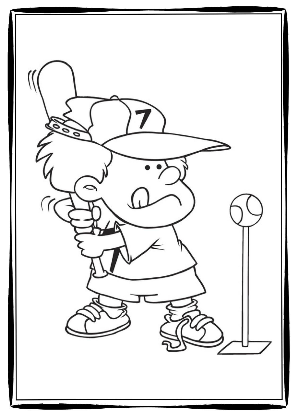 Baseball Batter Coloring Pages At Getdrawings