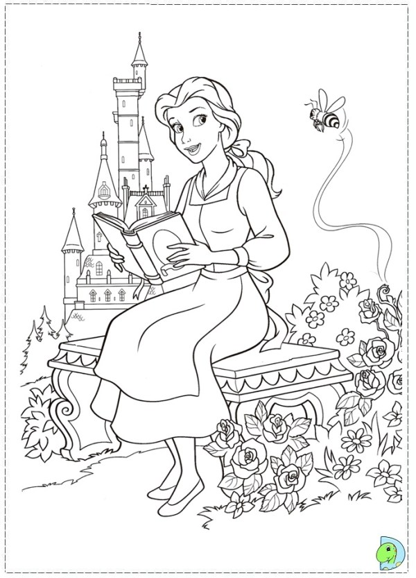 beauty and the beast coloring page # 29