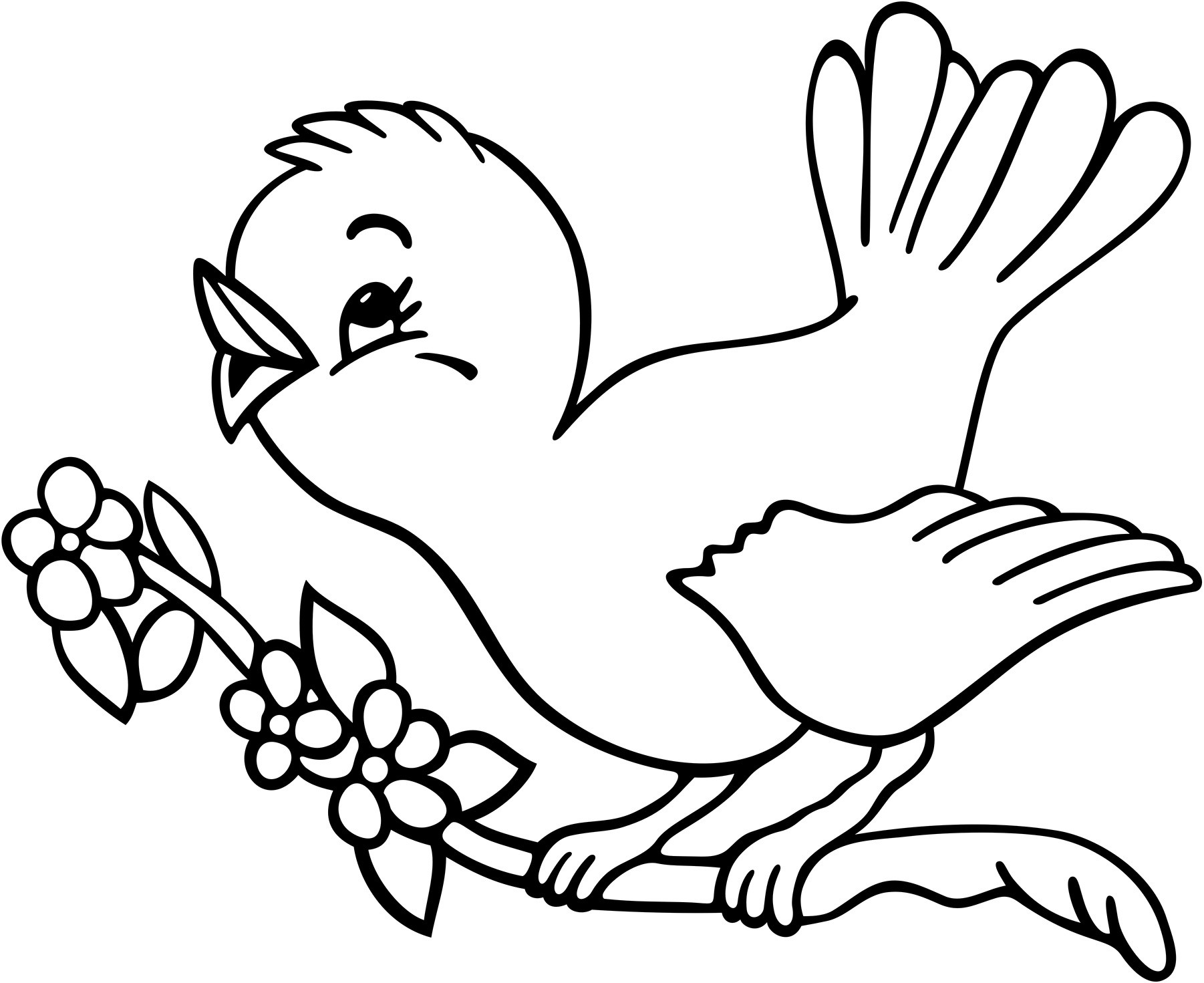 Bird Coloring Pages For Kids At Getdrawings