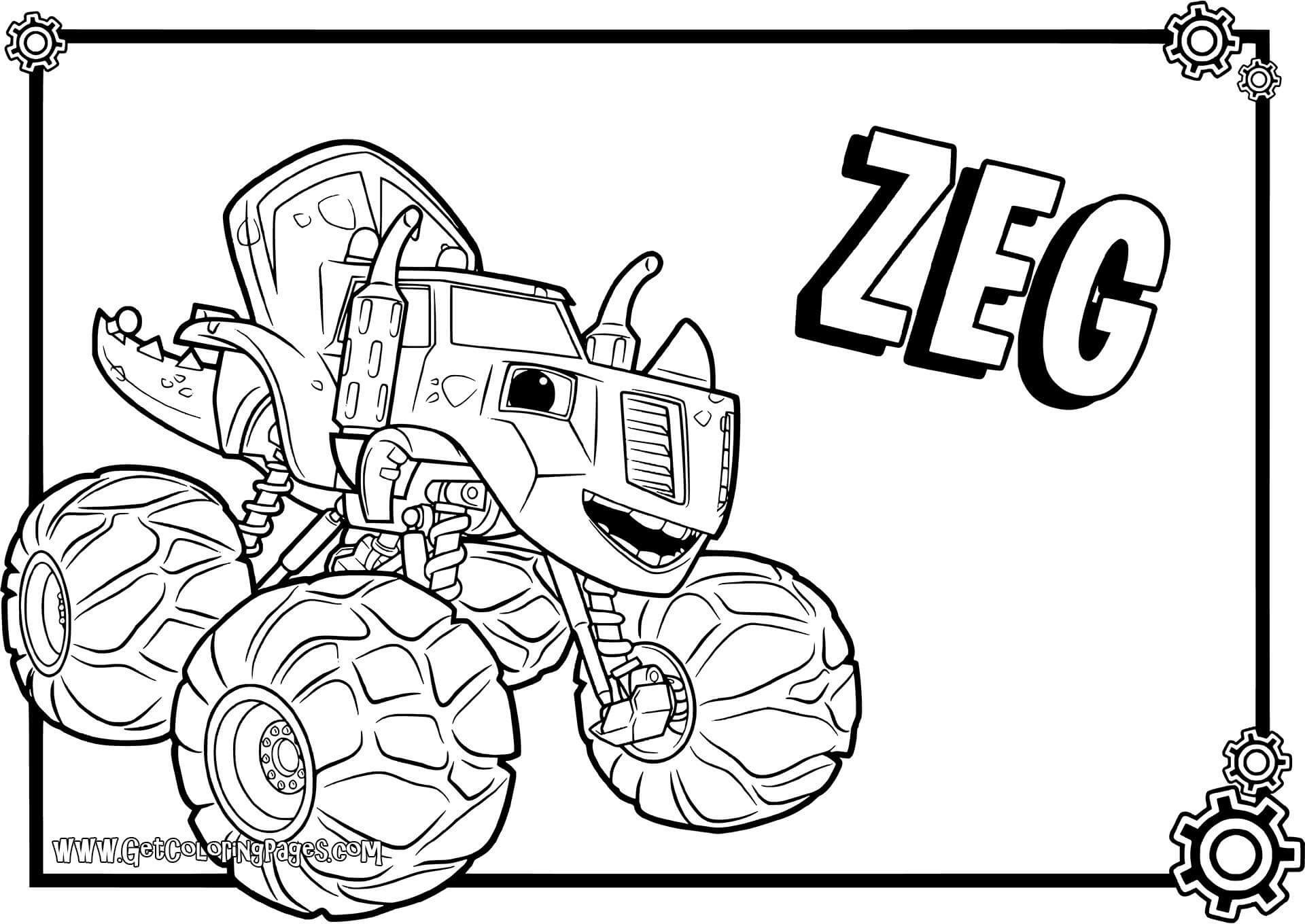 Blaze And The Monster Machines Clipart At Getdrawings