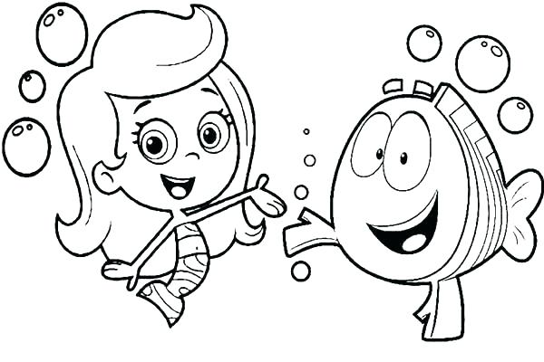 bubble guppies coloring page # 81