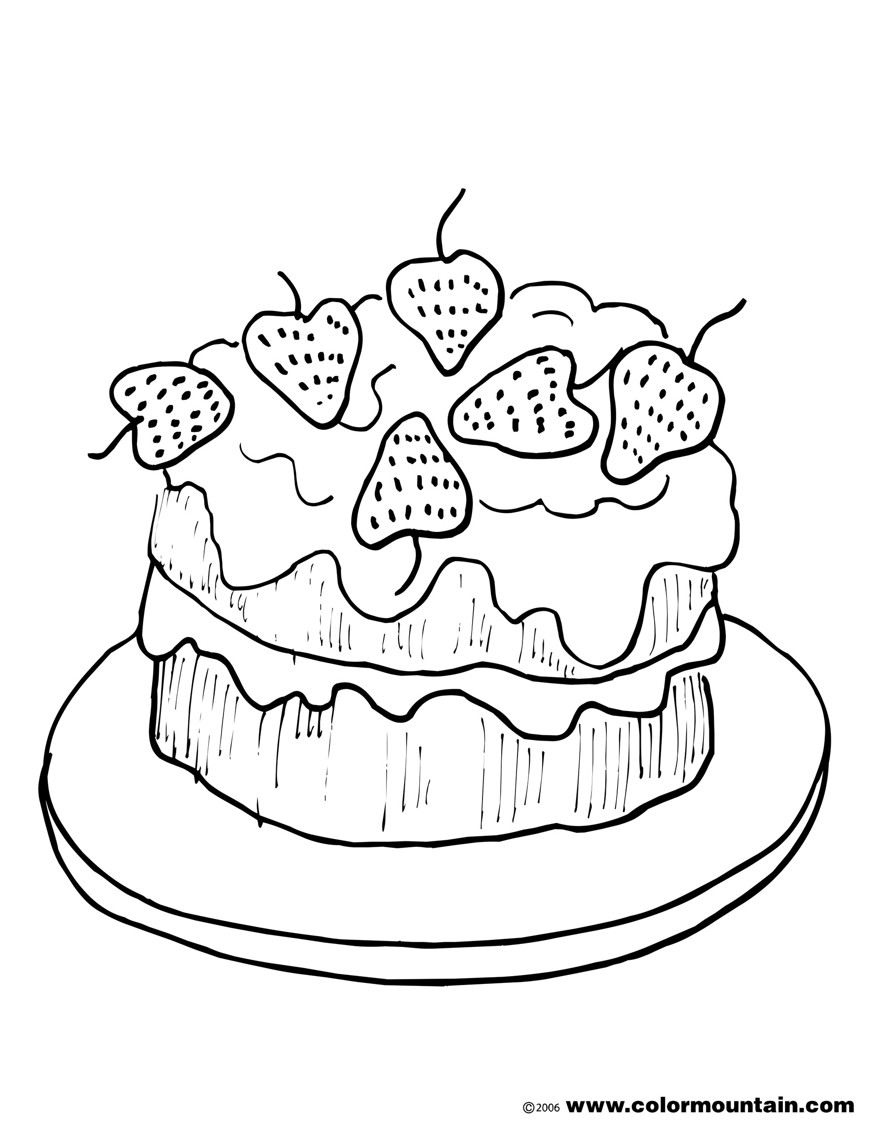 Cake Coloring Pages Free At Getdrawings