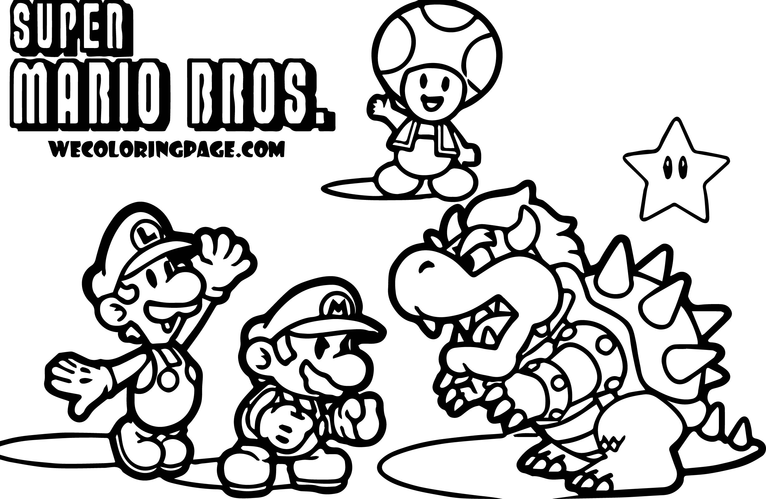Cat Mario Coloring Pages At Getdrawings