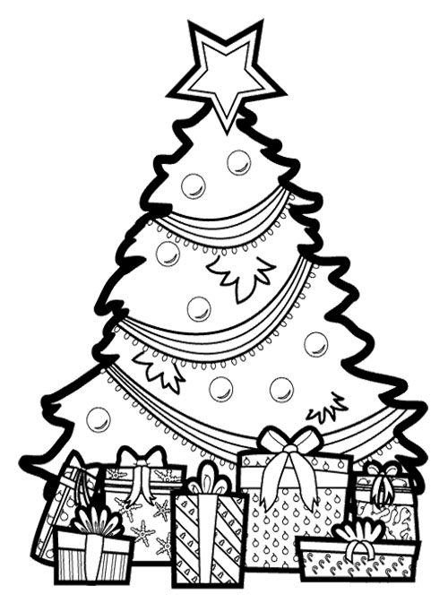 christmas present coloring pages # 23