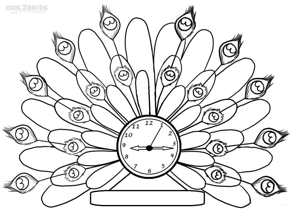 Clock Coloring Pages Printable At Getdrawings