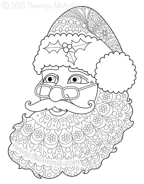 adult christmas coloring pages # 55
