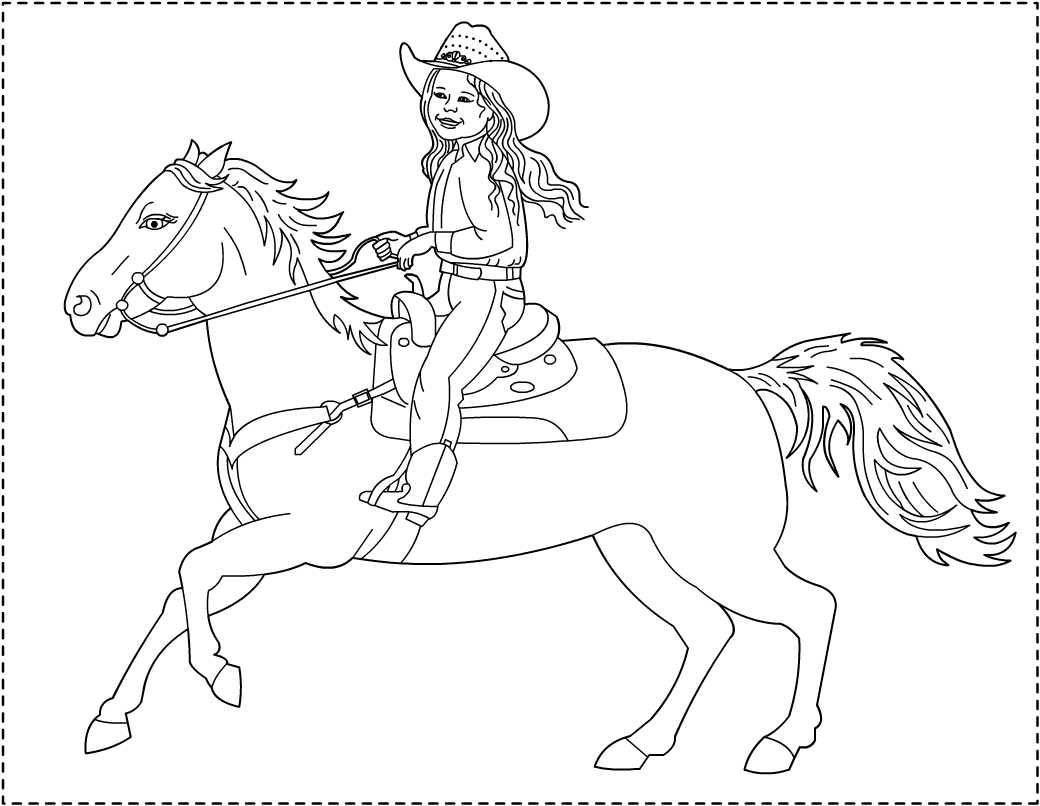 Coloring Pages Cowgirl At Getdrawings