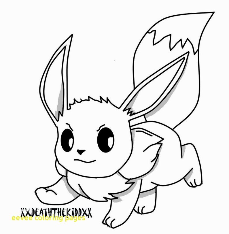 the best free eevee coloring page images. download from