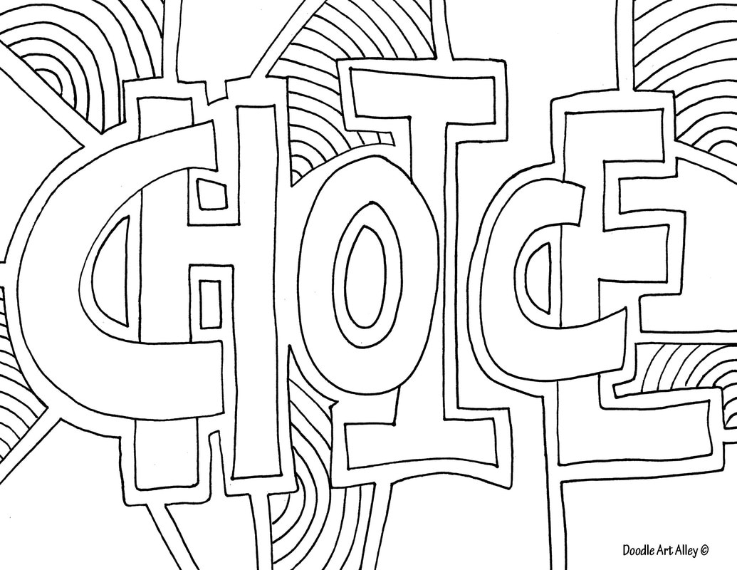 Coloring Pages For Adults Words At Getdrawings