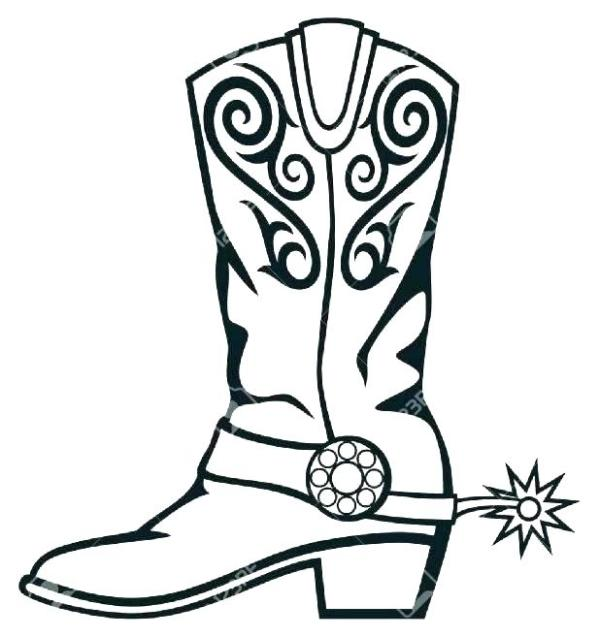cowboy boots coloring pages # 13