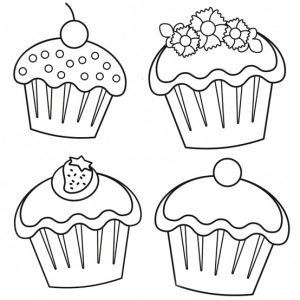 cupcakes coloring pages # 37