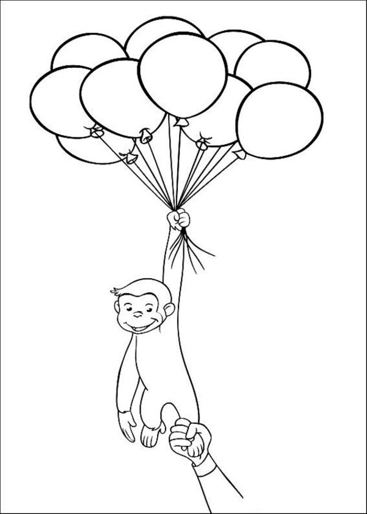 Curious George Birthday Coloring Pages At Getdrawings