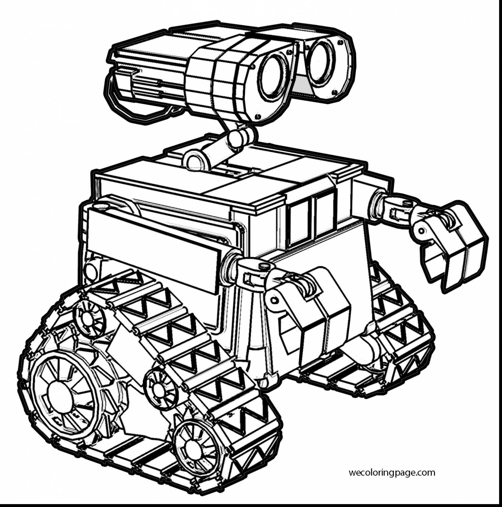 Cute Robot Coloring Pages At Getdrawings