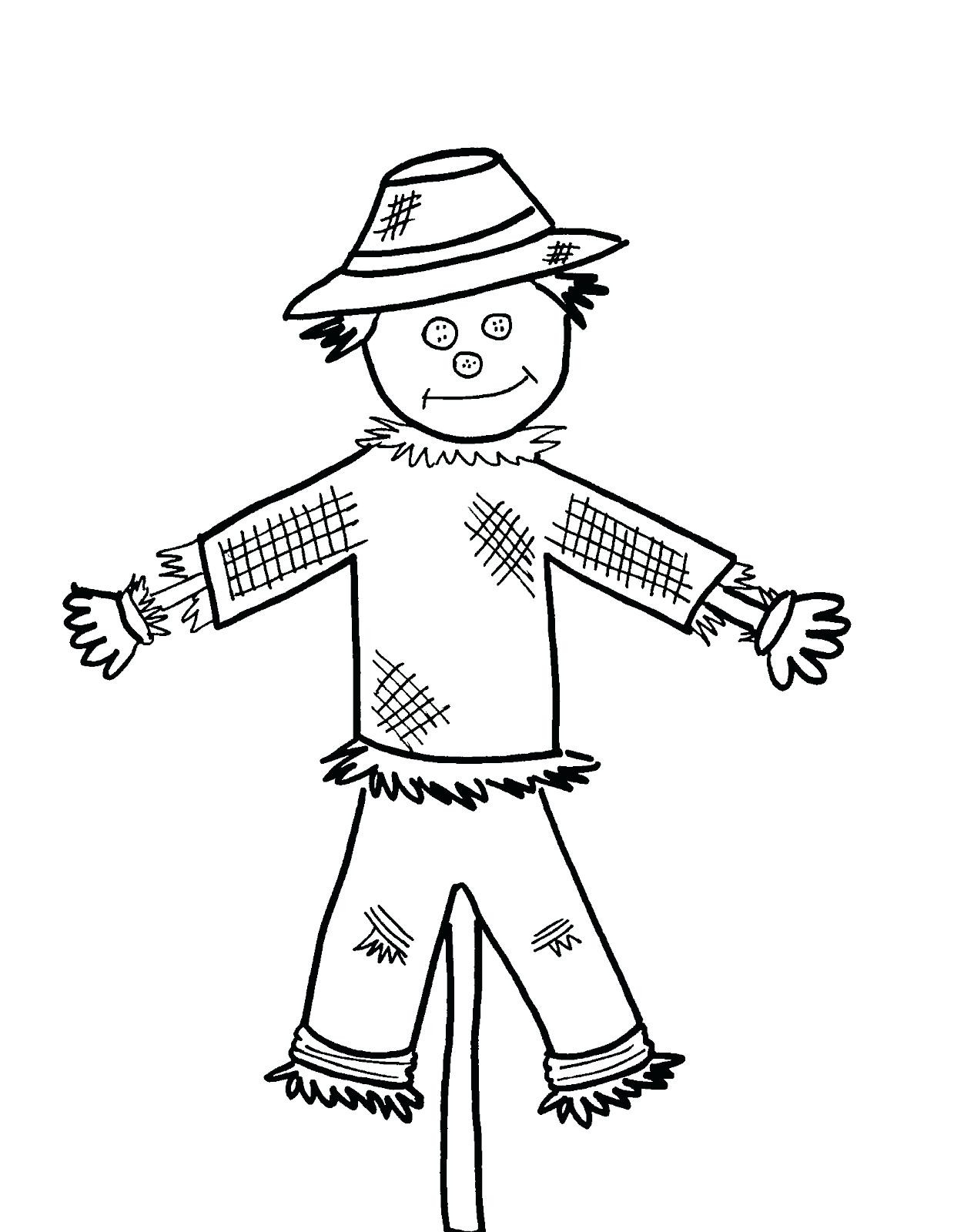 Cute Scarecrow Coloring Pages At Getdrawings