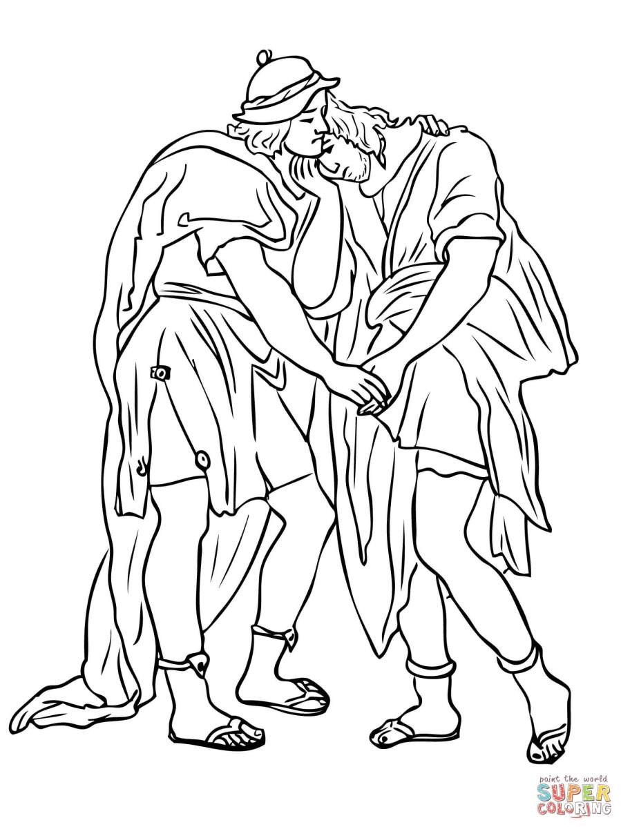 The best free Jonathan coloring page images. Download from ...