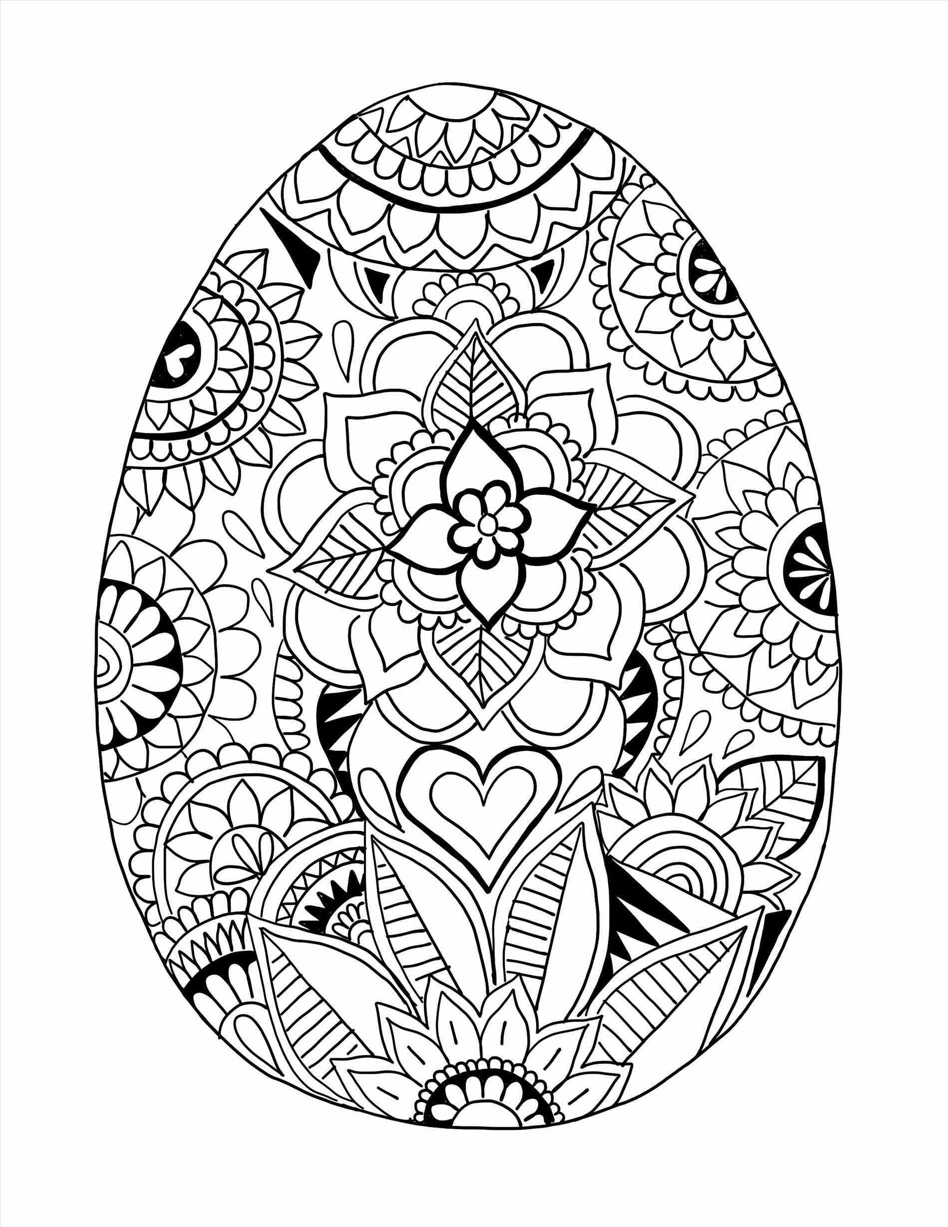 Detailed Easter Egg Coloring Pages At Getdrawings