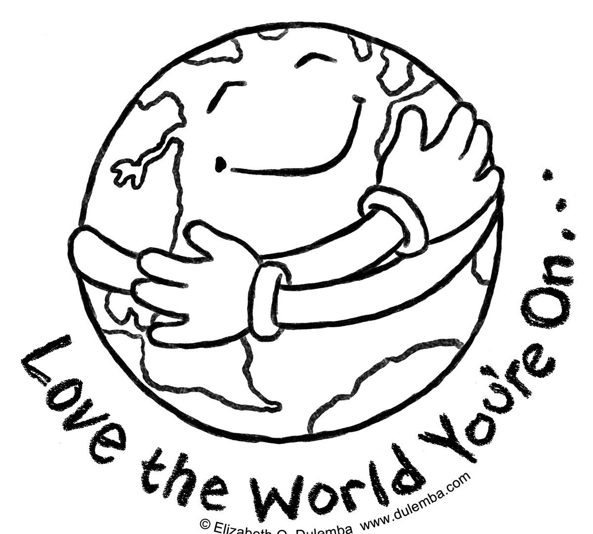 Earth Day Printable Coloring Pages At Getdrawings