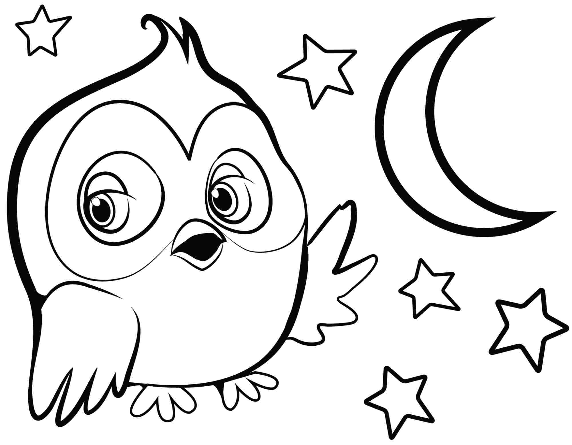 Easy Animal Coloring Pages For Kids At Getdrawings