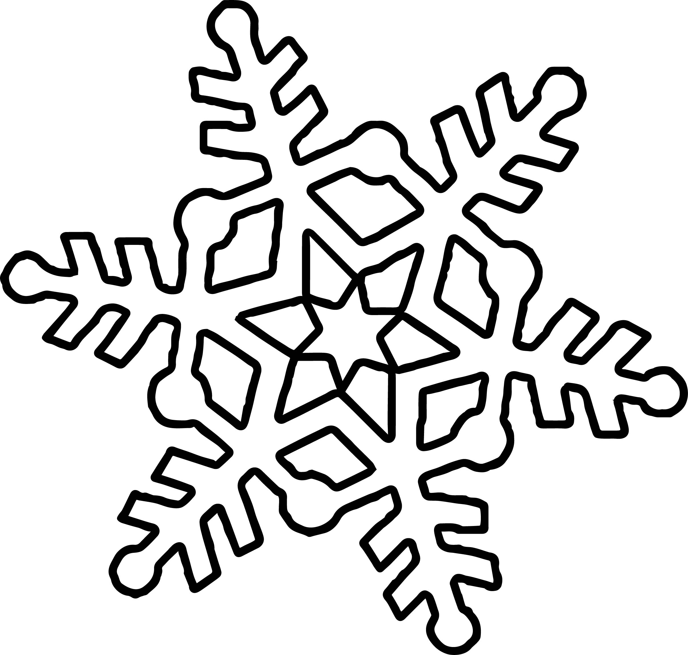 Easy Snowflake Coloring Pages At Getdrawings