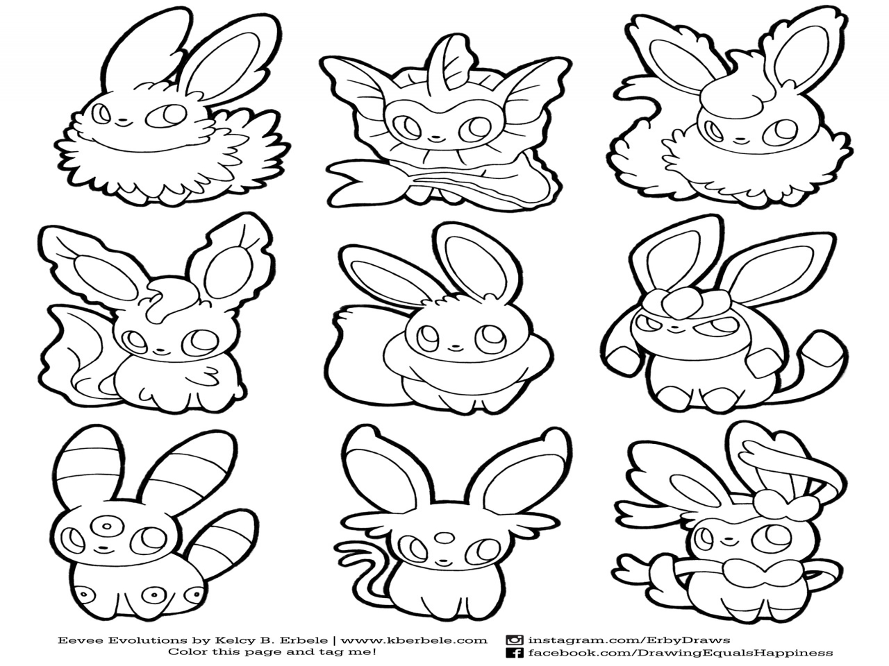 Eeveelutions Coloring Pages At Getdrawings