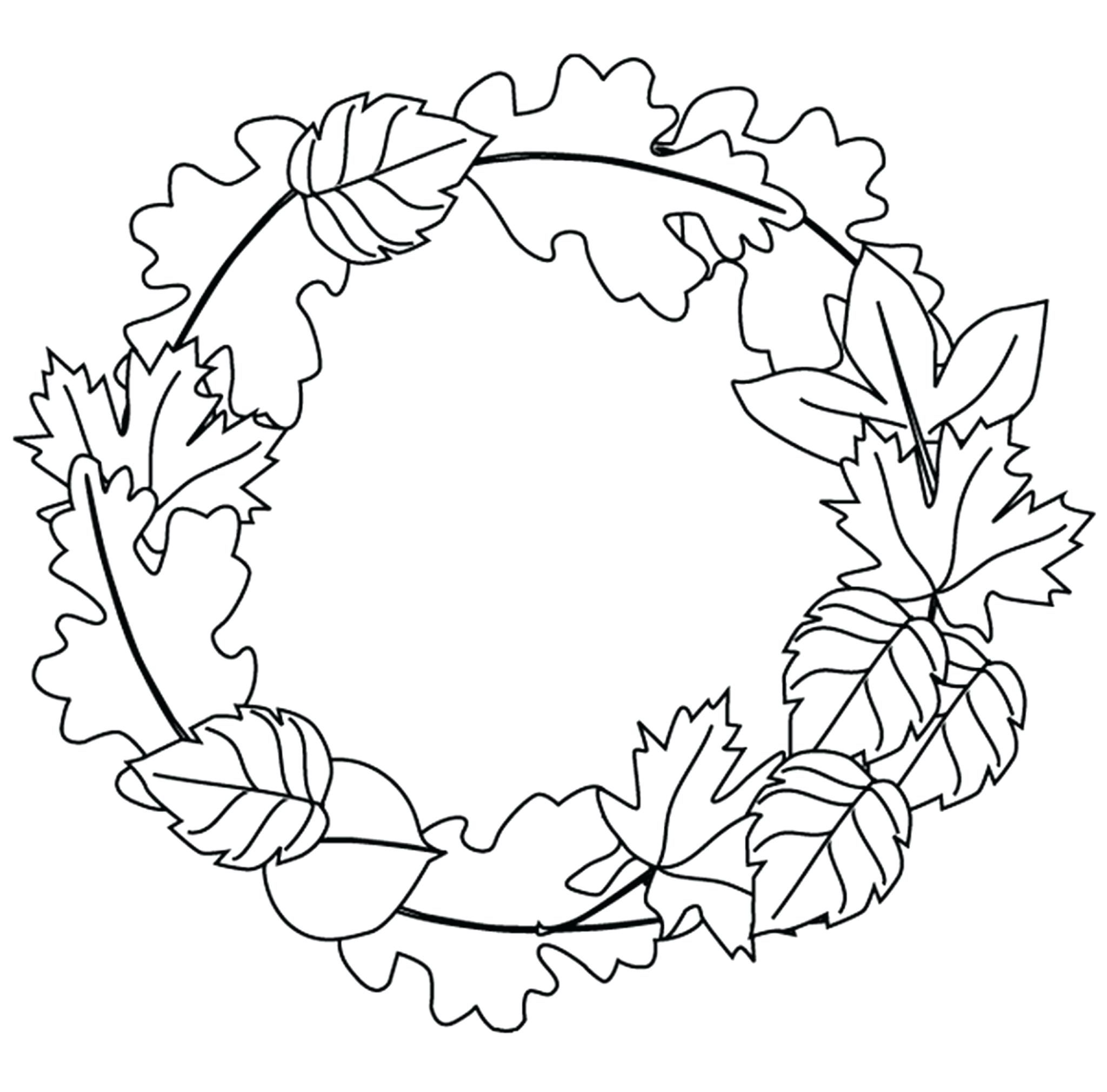 Fall Leaves Coloring Pages For Kindergarten At Getdrawings