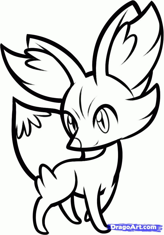 fennekin pokemon coloring page at getdrawings  free download