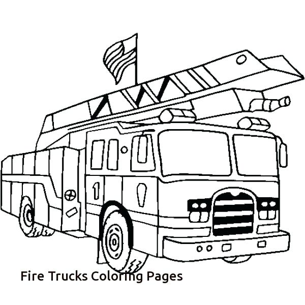 firetruck coloring pages # 33