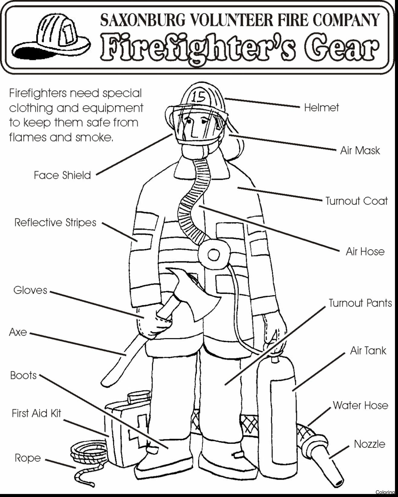 Firefighter Coloring Pages For Preschoolers At Getdrawings