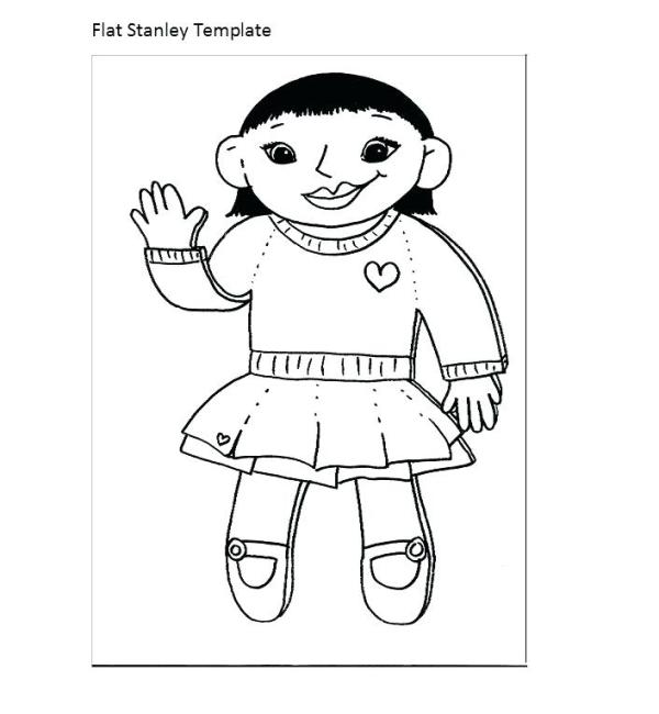 flat stanley coloring page # 29