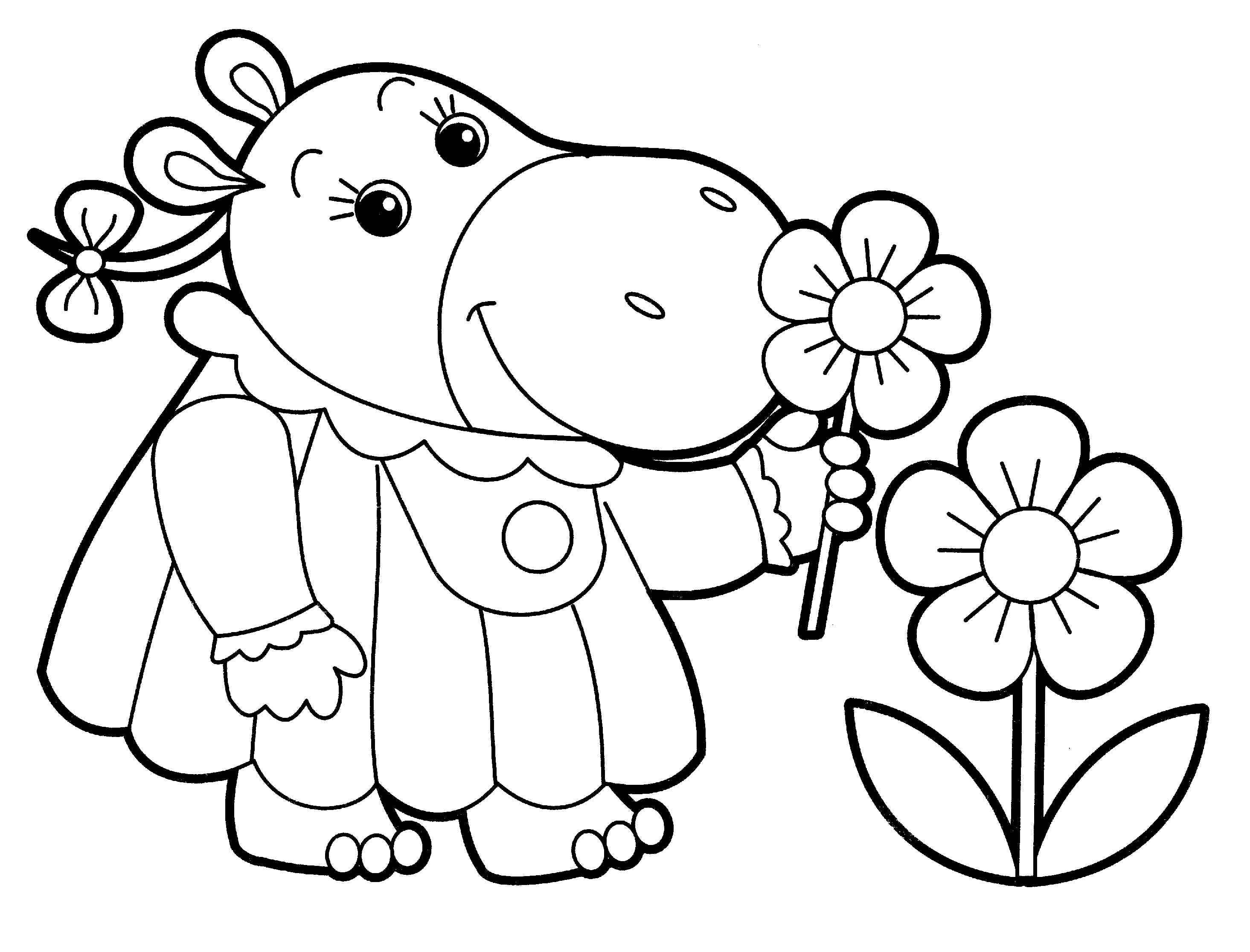 Flower Coloring Pages For Toddlers At Getdrawings