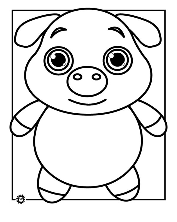 coloring pages of pigs # 35